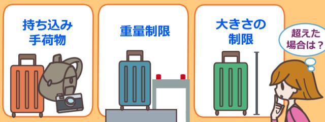 ジェットスター(Jetstar)の手荷物の機内持ち込みや預け方の方法は?