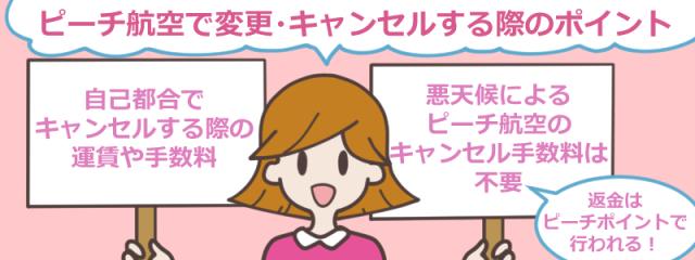 ピーチ航空(Peach)の変更・キャンセルの疑問をわかりやすく解説!